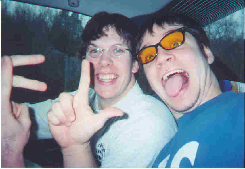 Jonathan and Brandon on the way to a show in Florida.jpg